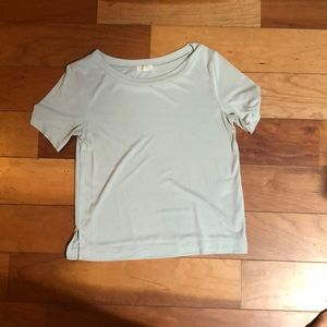 Urban Outfitters boxy blue/green short sleeve